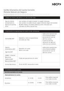Cartilla Informativa de Cuenta Corriente Persona Natural con Negocio