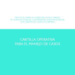 CARTILLA OPERATIVA PARA EL MANEJO DE CASOS
