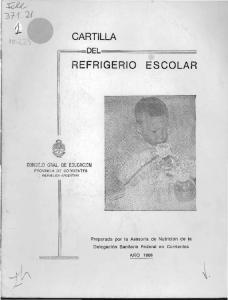 CARTILLA REFRIGERIO ESCOLAR I ' F=~=DEL,==~~~~~~~ CONSEJO GRAL. DE EDUCACION