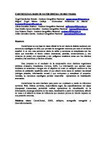 CARTOCIUDAD. BASE DE DATOS OFICIAL DE RED VIARIA