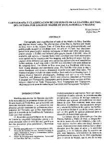 CARTOGRAFIA Y CLASIFICACION DE LOS SUELOS DE LA LLANURA ALUVIAL DELIMITADA POR LOS RIOS MADRE DE DIOS, BARBILLA Y MATINAl
