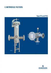 CARTRIDGE FILTERS. Type FA and FAG. Process Management TM. Type FAG. Type FA