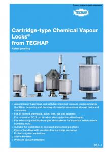 Cartridge-type Chemical Vapour Locks from TECHAP