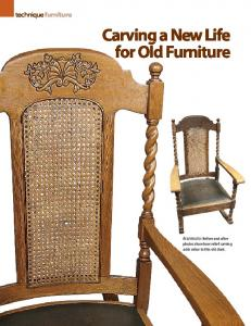 Carving a New Life for Old Furniture