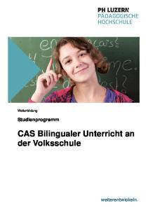 CAS Bilingualer Unterricht an der Volksschule