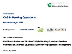 CAS in Banking Operations