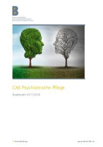 CAS Psychiatrische Pflege