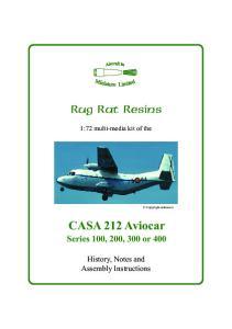 CASA 212 Aviocar Series 100, 200, 300 or 400