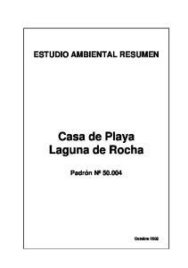 Casa de Playa Laguna de Rocha