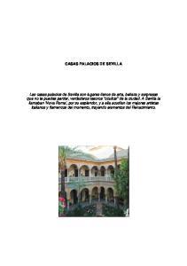 CASAS PALACIOS DE SEVILLA