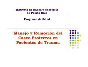 Casco Protector en Pacientes de Trauma