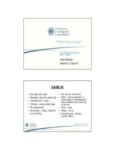 CASE #1. Case Studies Session 3, Case #1