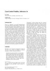 Case-Control Studies, Inference in