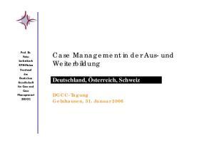 Case Management in der Aus- und Weiterbildung