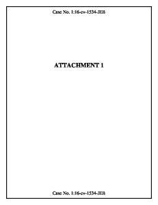Case No. 1:16-cv-1534-JEB ATTACHMENT 1. Case No. 1:16-cv-1534-JEB
