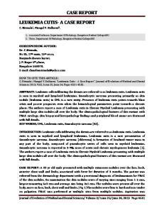 CASE REPORT LEUKEMIA CUTIS- A CASE REPORT