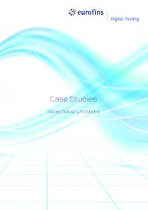 Case Studies. Media Delivery Solutions