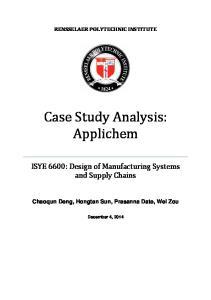 Case Study Analysis: Applichem