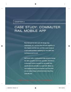 CASE STUDY: COMMUTER RAIL MOBILE APP