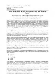 Case Study: DFD &UML Diagrams through ABC Printing Press