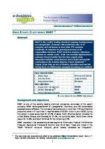 CASE STUDY: ELECTRONIC BASF 1
