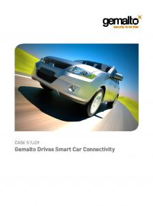 CASE STUDY. Gemalto Drives Smart Car Connectivity