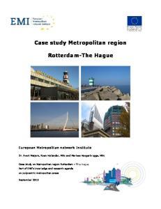 Case study Metropolitan region. Rotterdam-The Hague