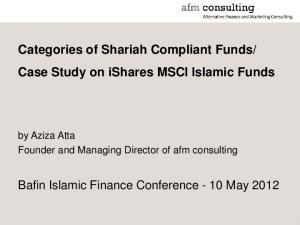 Case Study on ishares MSCI Islamic Funds