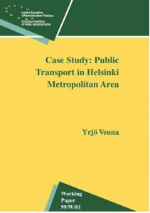Case Study: Public Transport in Helsinki Metropolitan Area