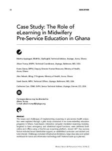 Case Study: The Role of elearning in Midwifery Pre-Service Education in Ghana