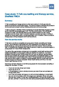 Case study: Y-Talk counselling and therapy service, Sheffield YMCA