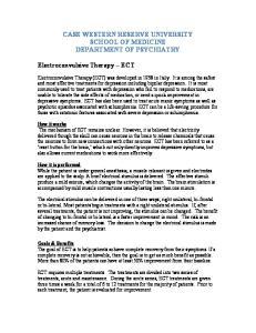 CASE WESTERN RESERVE UNIVERSITY SCHOOL OF MEDICINE DEPARTMENT OF PSYCHIATRY