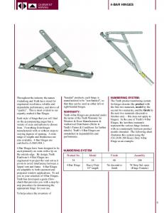 CASEMENT AWNING NUMBERING SYSTEM