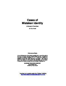 Cases of Mistaken Identity