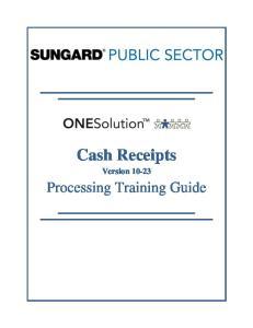 Cash Receipts Version 10-23