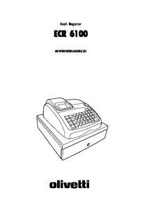 Cash Register ECR 6100 ANWENDERHANDBUCH