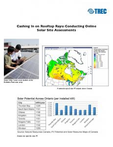 Cashing In on Rooftop Rays: Conducting Online Solar Site Assessments