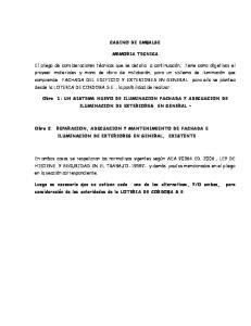 CASINO DE EMBALSE MEMORIA TECNICA