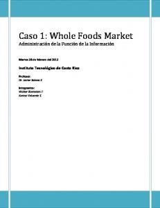 Caso 1: Whole Foods Market