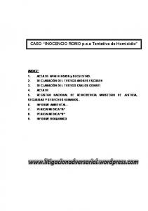 CASO INOCENCIO ROMO p.s.a Tentativa de Homicidio
