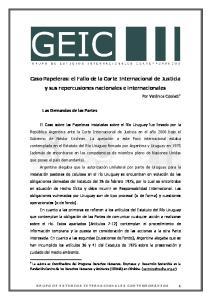 Caso Papeleras: el Fallo de la Corte Internacional de Justicia y sus repercusiones nacionales e internacionales