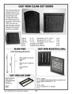 CAST IRON CLEAN-OUT DOORS