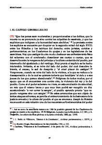 CASTIGO I. EL CASTIGO GENERALIZADO