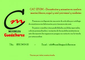 CAT 03 DM Dormitorios y armarios en madera maciza blanco, nogal y miel provenzal y moderno