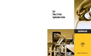 Cat Filter & Fluid Application Guide