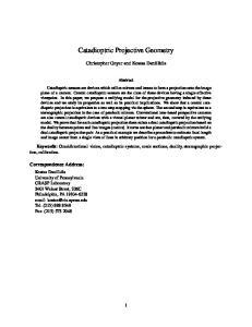 Catadioptric Projective Geometry