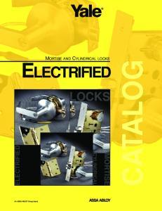 CATALOG LOCKS ELECTRIFIED MORTISE CYLINDRICAL