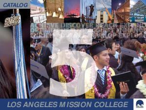 CATALOG LOS ANGELES MISSION COLLEGE