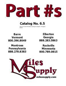 Catalog No Elberton Georgia Rockville Minnesota Barre Vermont Montrose Pennsylvania