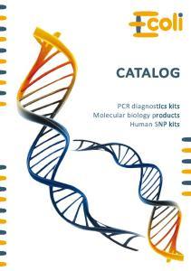 CATALOG. PCR diagnostics kits. Human SNP kits